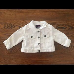 Oshkosh white denim jacket